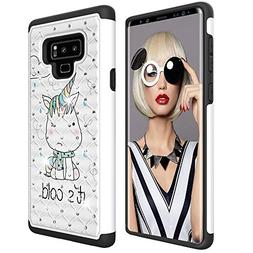 Galaxy Note 9 Case, Dooge Bling Sparkly Diamond Case Dual La