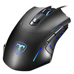 Thuctek Gaming Mouse, Ergonomic USB Wired Optical Gaming Mic