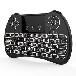 Tripsky H9 Backlit 2.4GHz Mini Wireless Keyboard, Handheld R