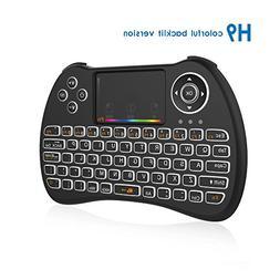 EVANPO 2.4GHz H9 Colorful Backlit Wireless Mini Keyboard, Mo