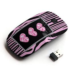 KawaiiMouse  Heart Zebra Glitter Jewel Bling Pink