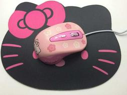 Hello Kitty Wireless Mouse Pink Gaming Computer 1600DPI & Mo