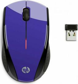 HP X3000 Purple Wireless Mouse - Optical - Wireless - Purple