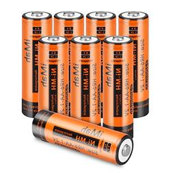 iMah HR6 AA rechargeable batteries 2400mAh for solar light,