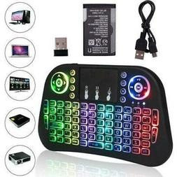 I10 2.4G Mini Wireless Keyboard With Touchpad Backlit Mouse