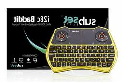 Subset i28c Gold Chrome - 2.4GHz Mini Wireless Keyboard with