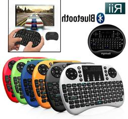 Rii i8+ BT Mini Bluetooth Backlight Touchpad Keyboard with M