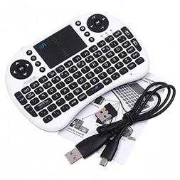 Rii i8+ Mini Wireless 2.4G Back Light Touchpad Keyboard with