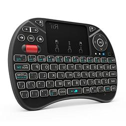 2018 Rii i8X 2.4GHz Mini Wireless Keyboard with Touchpad Mou