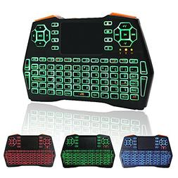 KUD i8+ 2.4GHz Plus Mini Wireless Keyboard with Touchpad Mou