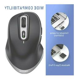 Jelly Comb Wireless Mouse, Ergonomic Dual Mode 2.4GHz with U