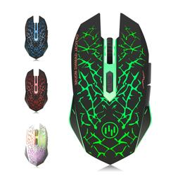 TENMOS K6 Wireless Gaming Mouse, Rechargeable Silent LED Opt