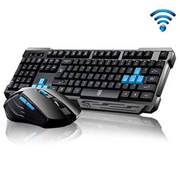 Keyboard Mouse Combos,Soke-Six Waterproof Multimedia 2.4GHz