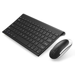 Keyboard Mouse, Jelly Comb 2.4 G Ultra Slim Rechargeable Wir