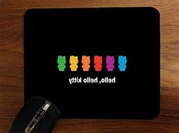 Kitty Hello Rainbow Cats Desktop Office Silicone Mouse Pad