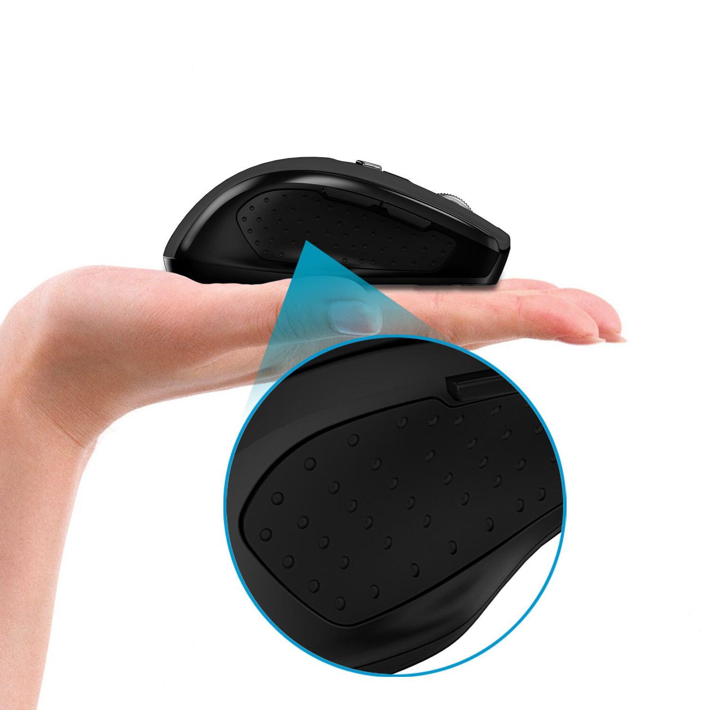 JETech Bluetooth Wireless Optical Mice for PC Mac Black