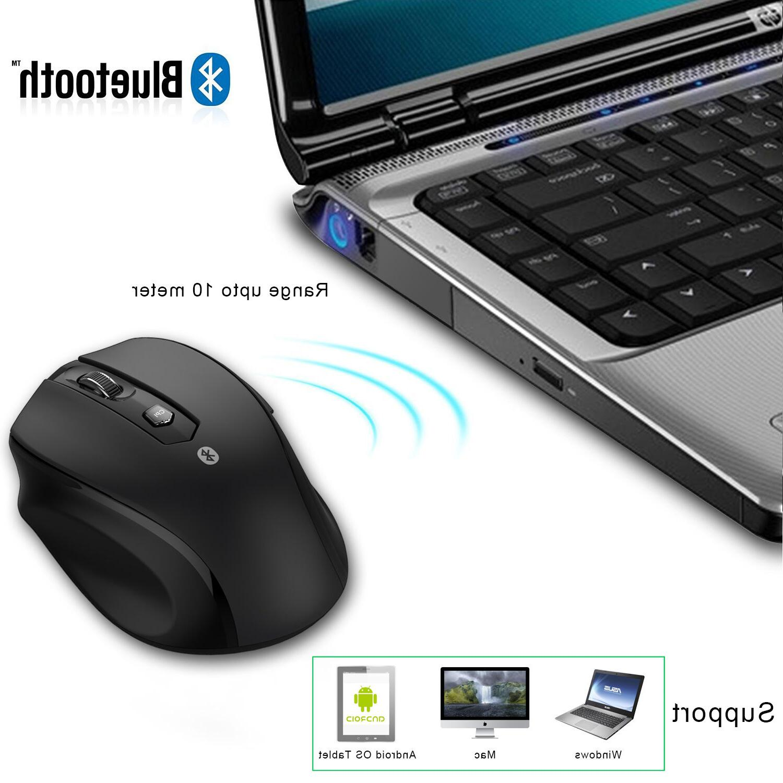 JETech Wireless Mouse Optical Mac OS Black