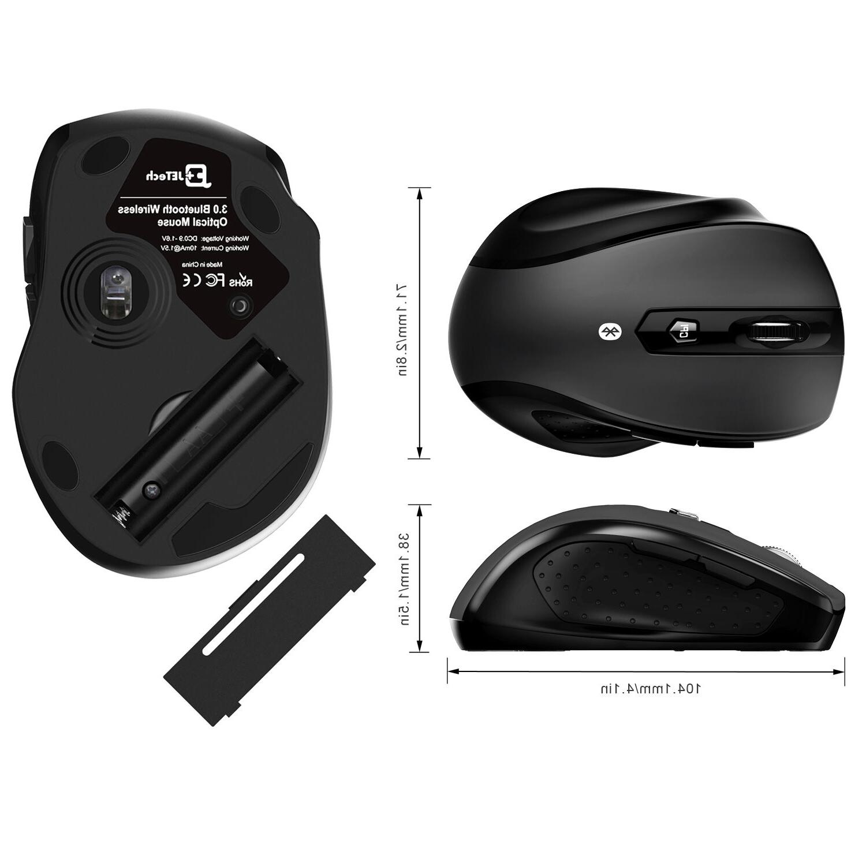 JETech Bluetooth Wireless Mouse Optical PC Mac Black
