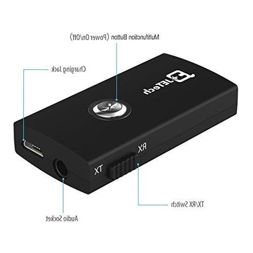 JETech Wireless Bluetooth Stereo Receiver Transmitter