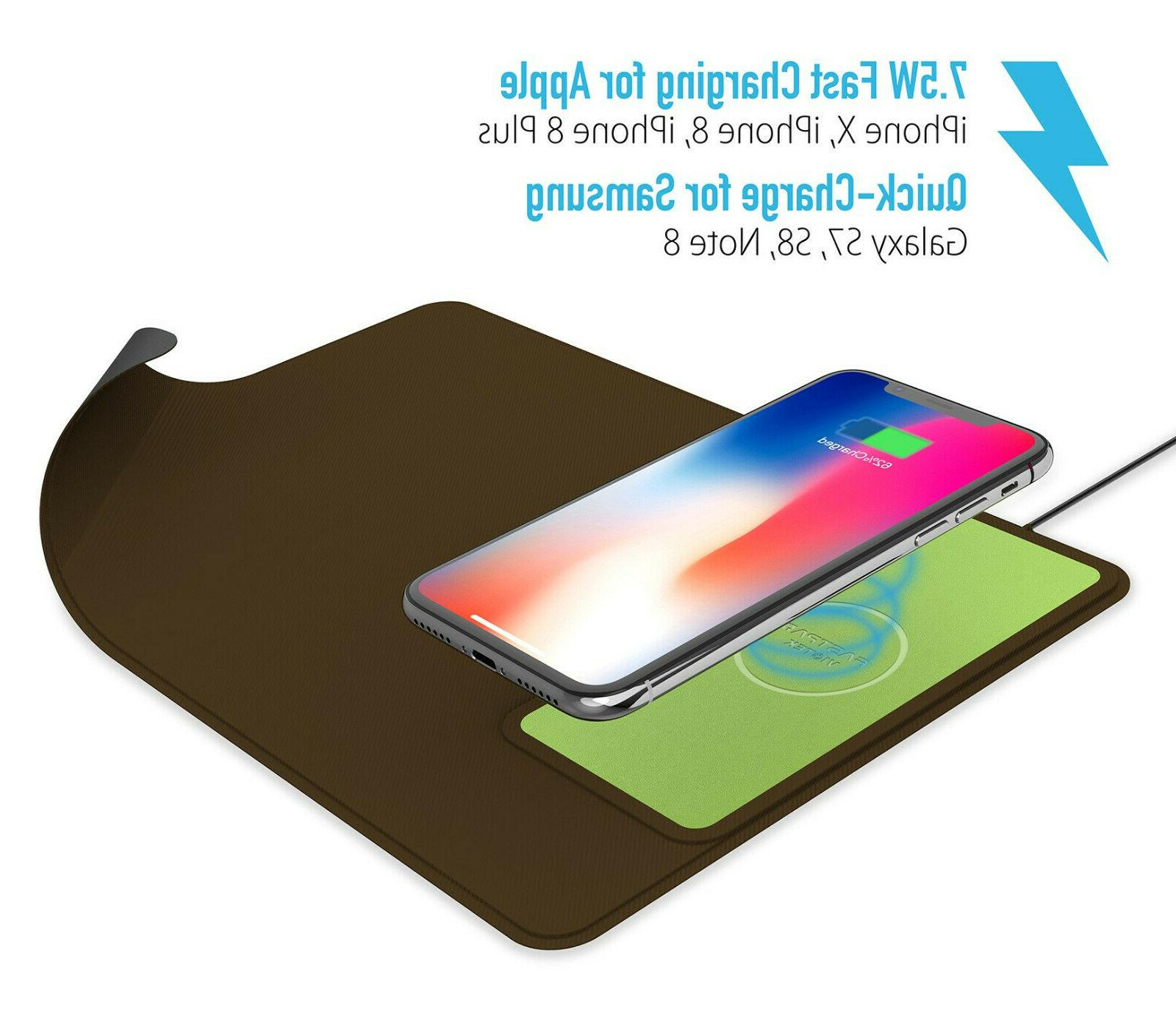 10w qi wireless fast charging charger 2in1