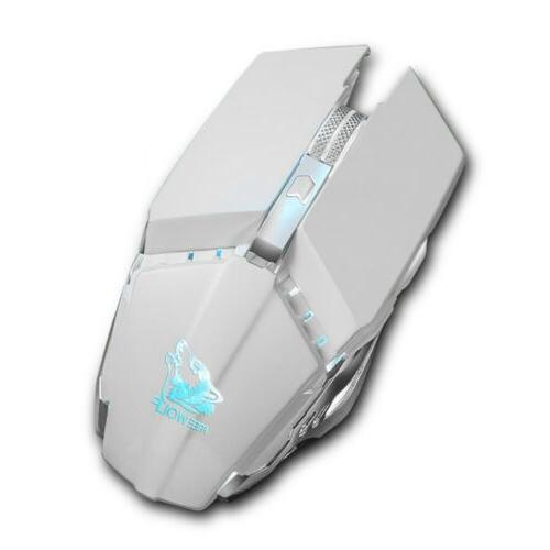 1600DPI Wireless Mouse LED Rechargeable PC