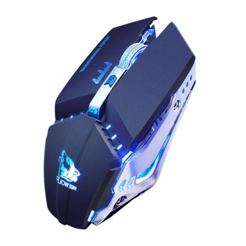 1600DPI Wireless Gaming Mouse LED