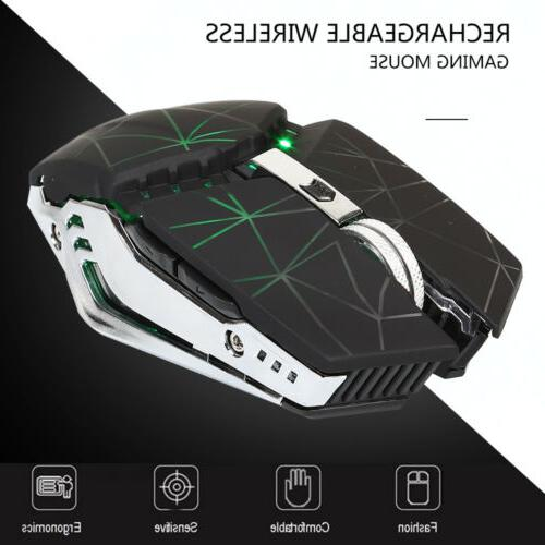 LED Backlit Wireless Gaming Mouse pro USB Optical 1600 DPI M