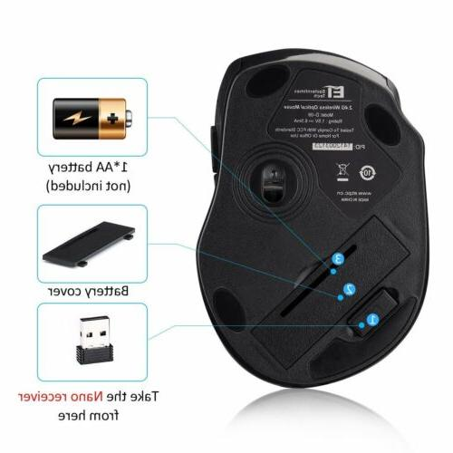 2.4GHZ Optical Mouse Mice Nano Receive for Mac