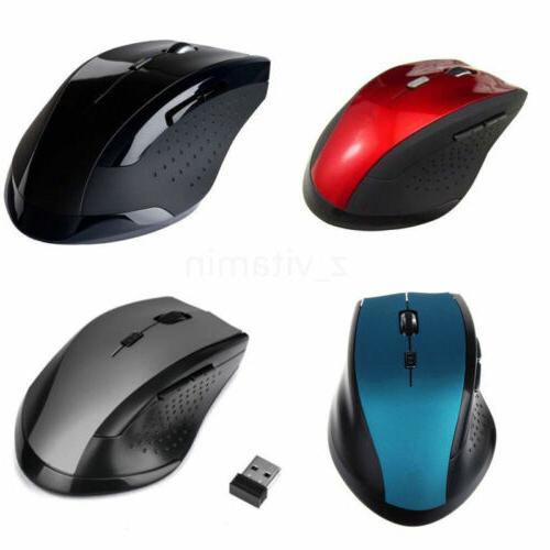 2.4GHz 6D 1600DPI USB Wireless Optical Gaming Mouse Mice For