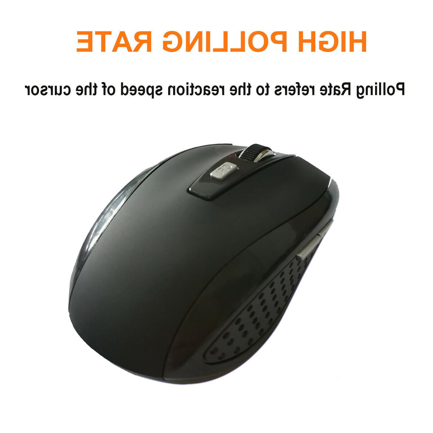 2.4GHz Quality Optical Mouse/Mice + USB 2.0 for PC Laptop