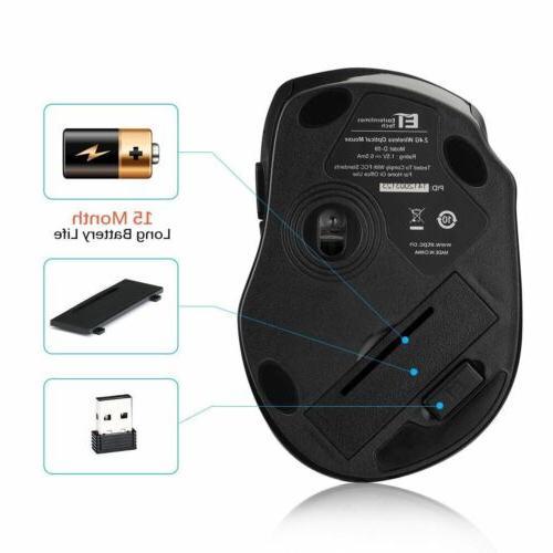 2.4GHz Mini Wireless Optical Mouse Mice USB Receiver