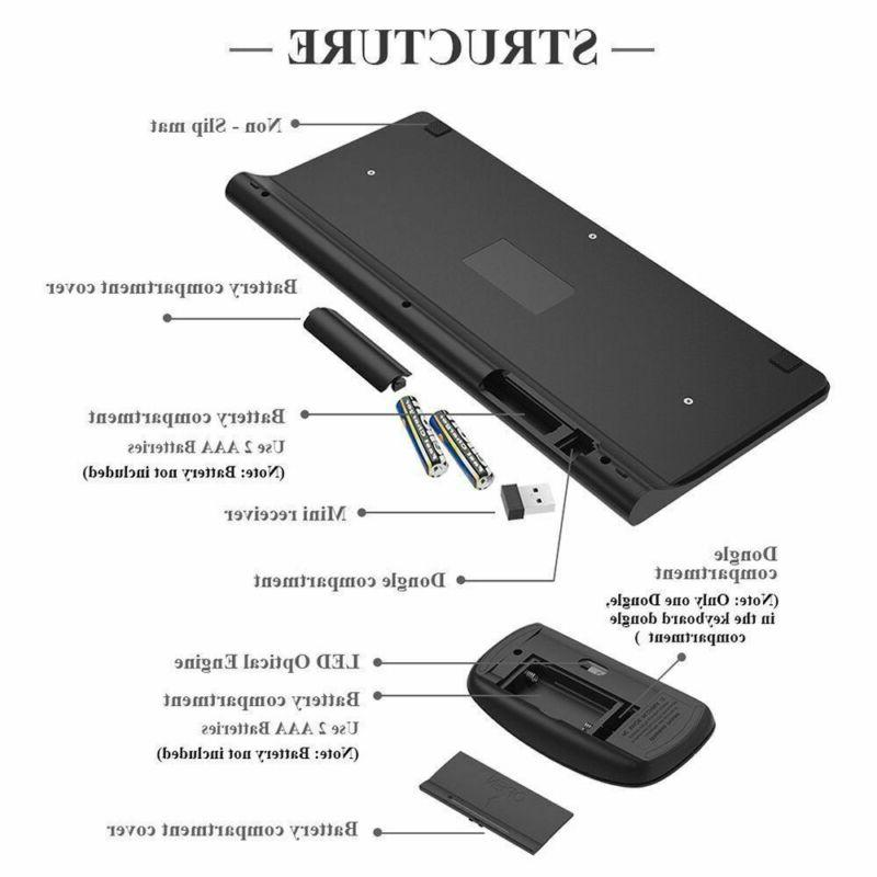 2.4GHz USB Wireless Mouse Combo Mini ultra-thin Set