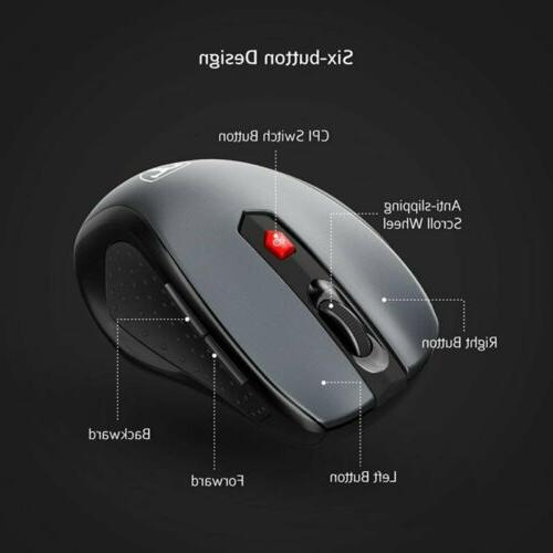 VicTsing Wireless Mouse 5 DPI Buttons