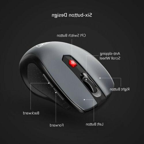 2.4GHz Mouse Mice +USB for PC DPI
