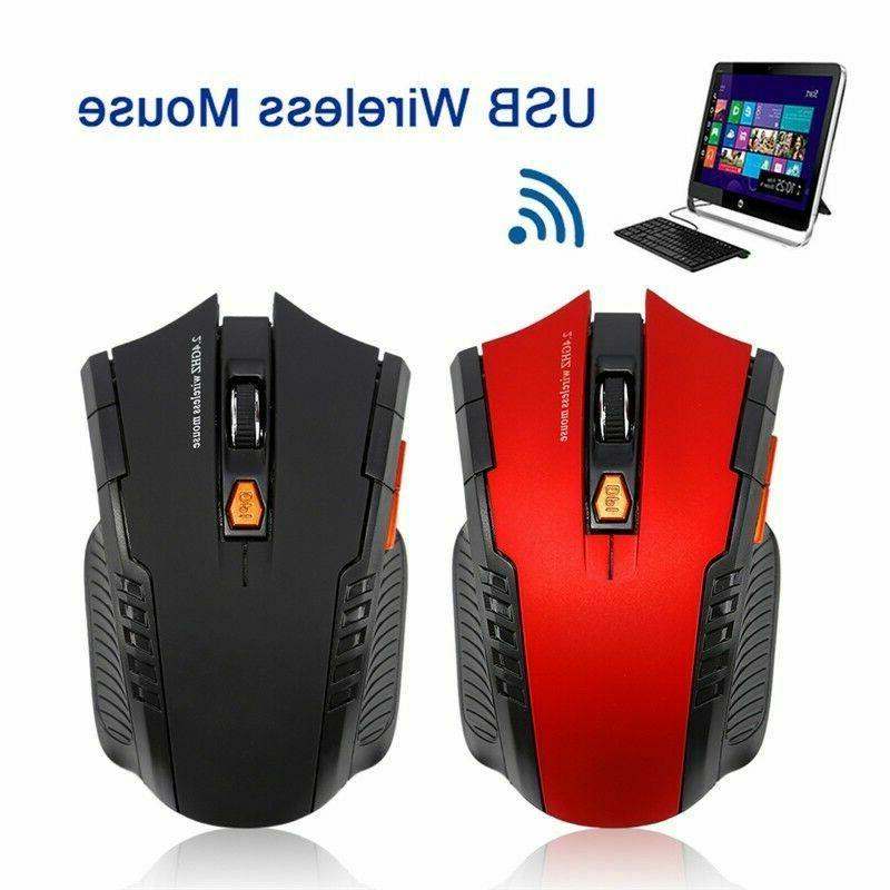 2.4GHz Wireless Cordless Optical Mouse Mice & Receive For Computer