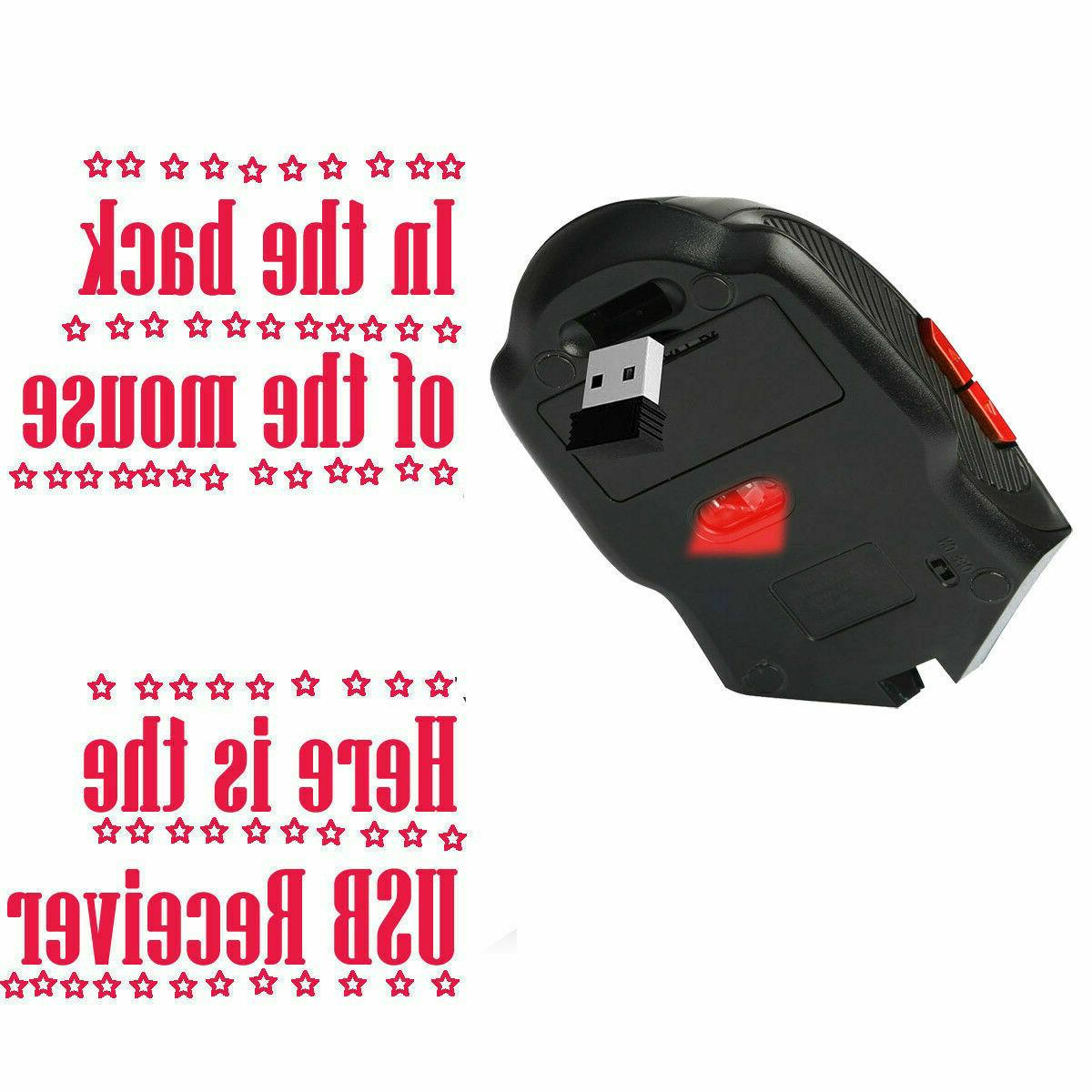 2.4GHz Wireless Cordless Optical Mouse Computer