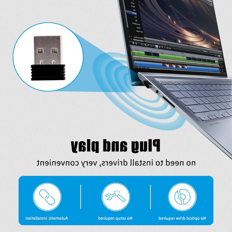 2.4GHz Rechargeable Laptop Macbook