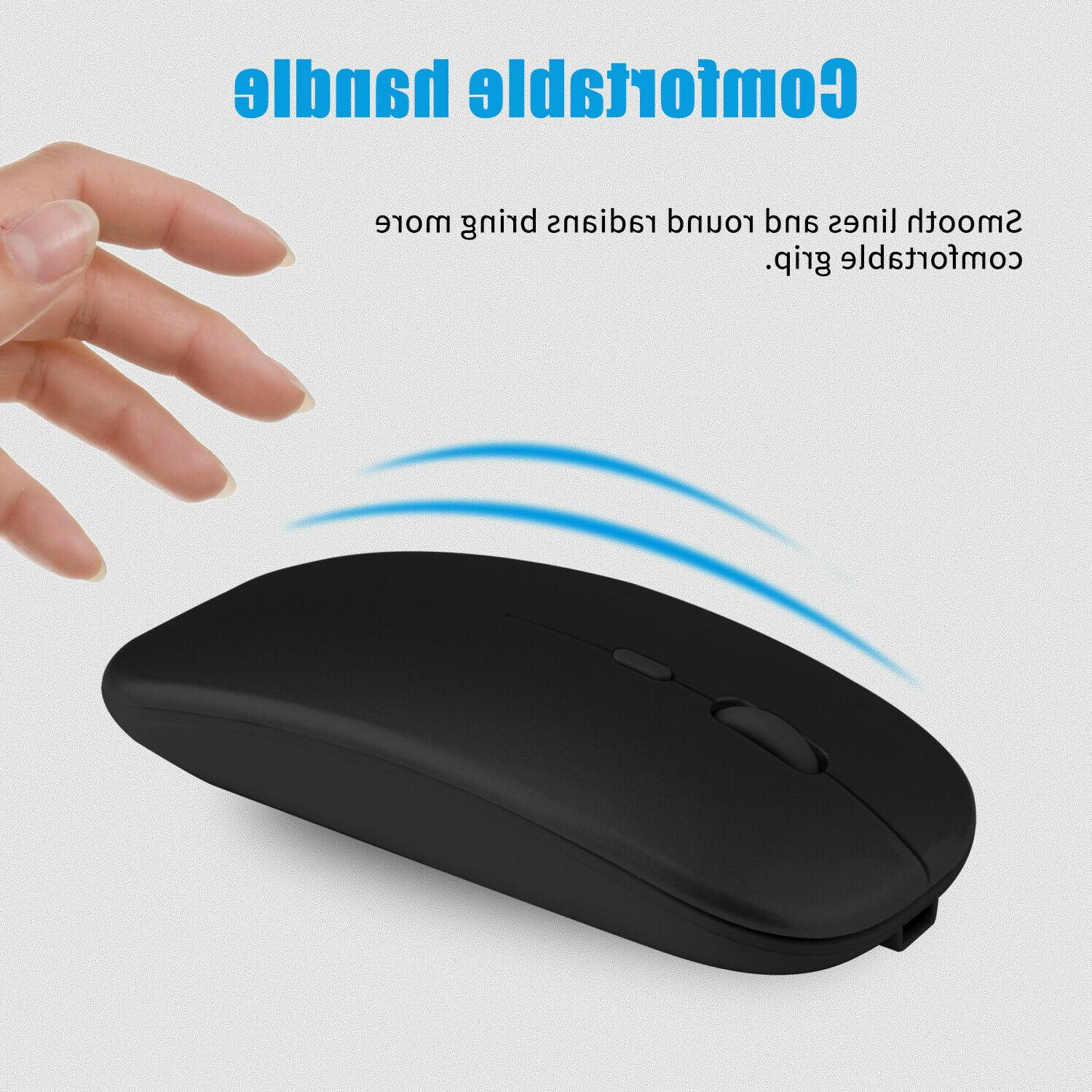 2.4GHz Wireless Mouse Rechargeable Mice Laptop