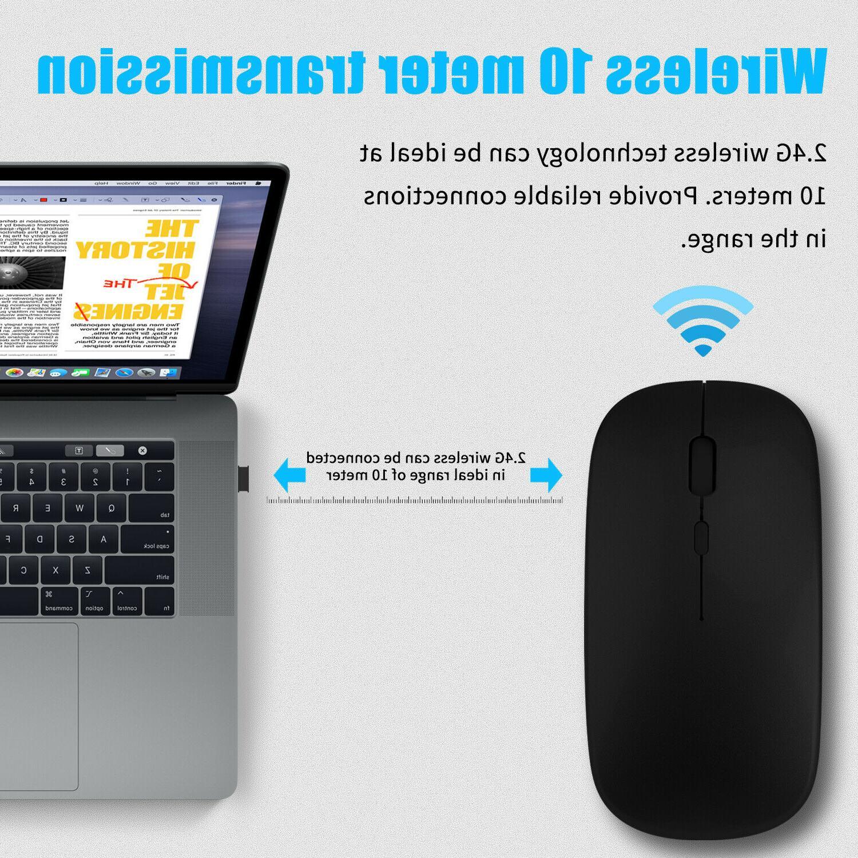 2.4GHz Mouse Rechargeable Mini Mice Laptop