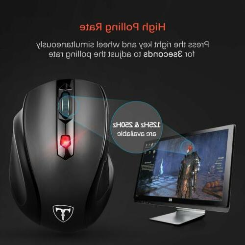 VicTsing Wireless Optical Gaming Mice USB Receiver PC Laptop
