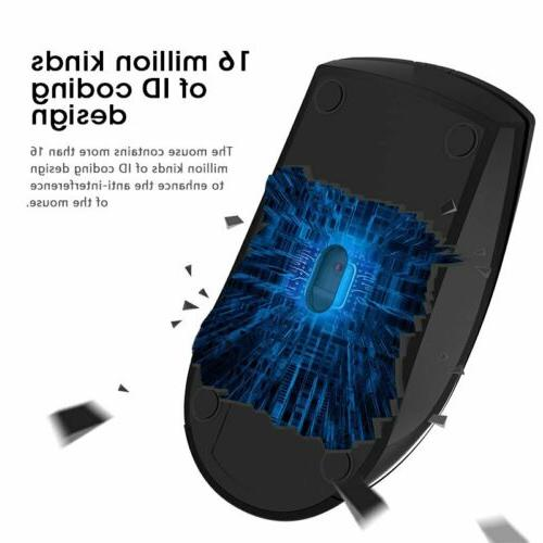 2.4GHz Wireless Mouse 1600DPI 6Buttons PC Laptop