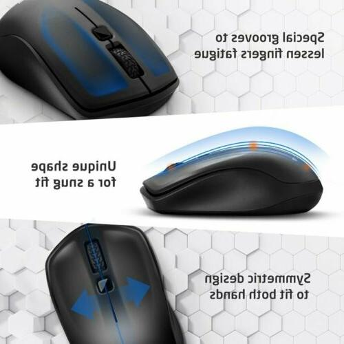 VicTsing Wireless Mouse USB Mice Adjustable for Macbook