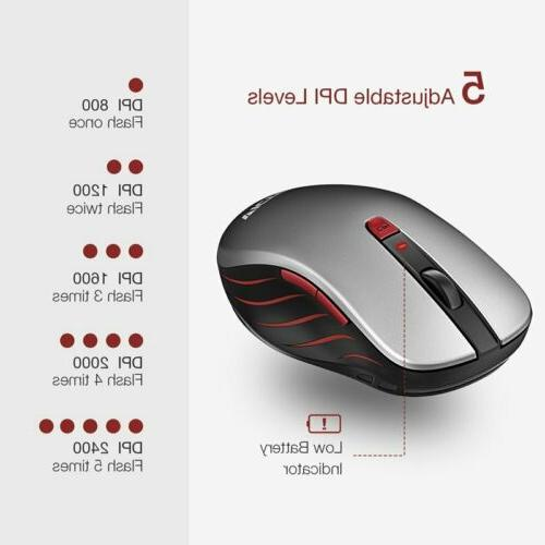 VicTsing 2.4GHz Wireless Mouse DPI For Macbook Laptop