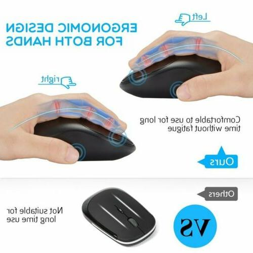 VicTsing 2.4GHz Mouse DPI For Mac PC Laptop