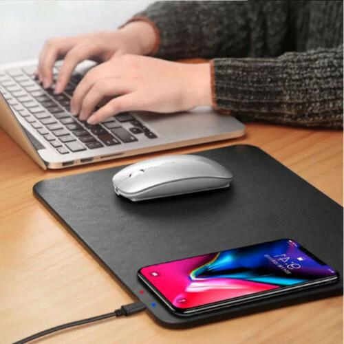 Qi Wireless Charger Charging Mouse Pad Station for Apple iPh