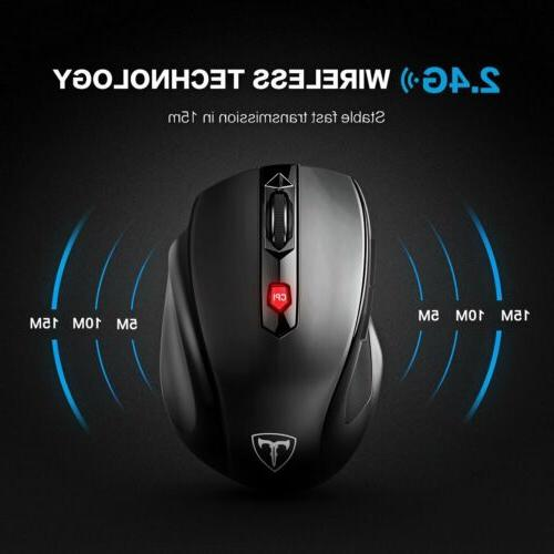 2400 DPI Wireless Optical Gaming Mouse Mice 5 Buttons for PC