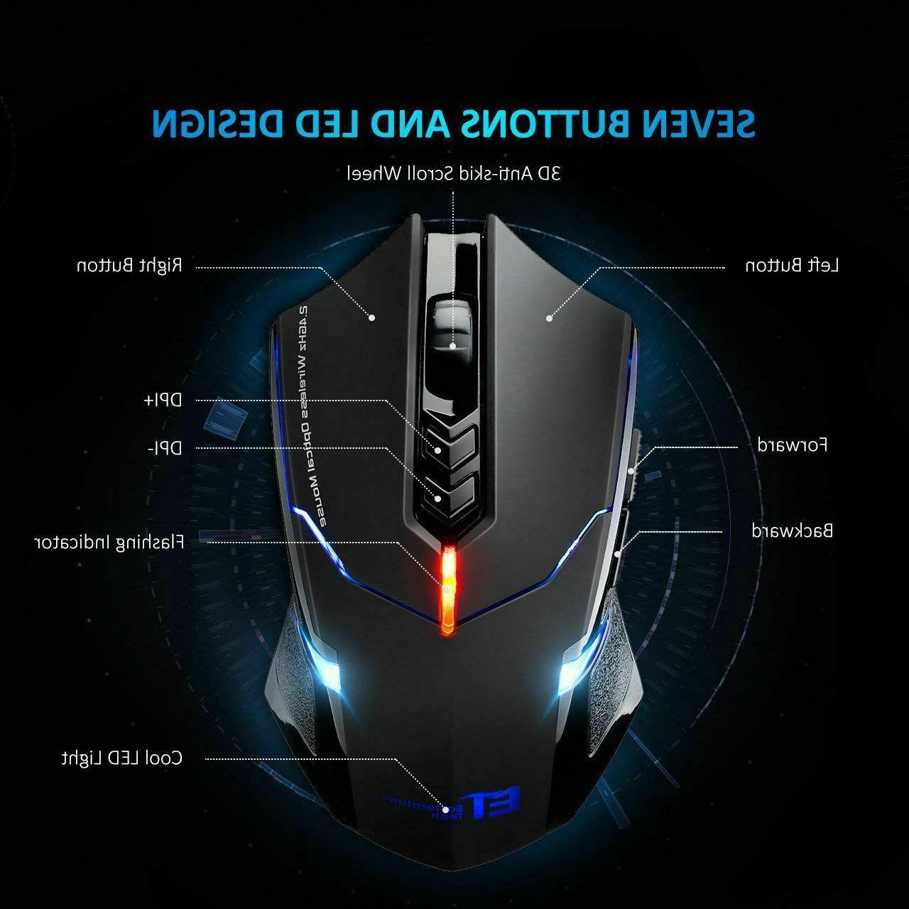 2400 Button Gaming LED Optical Mice Pro Gamer