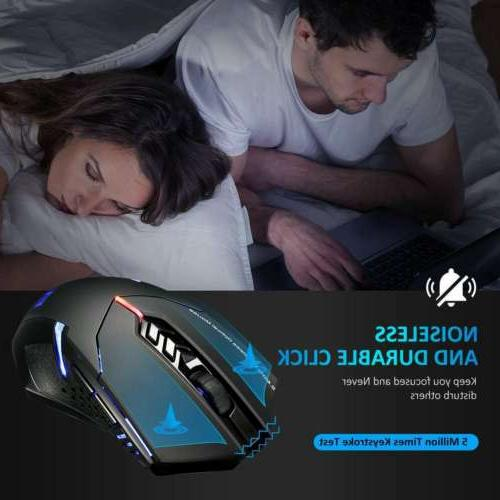 Victsing Wireless Gaming Mouse LED Game For Pro Xmas