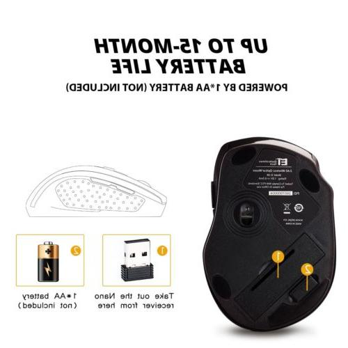 2400DPI Optical Mouse Mice Receiver