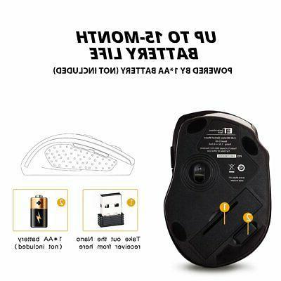 2400DPI Mouse Nano USB Receiver US
